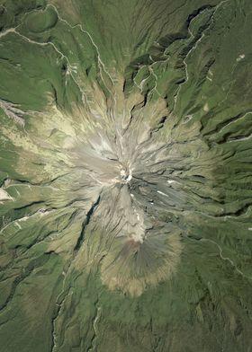 Mt Taranaki Aerial Map