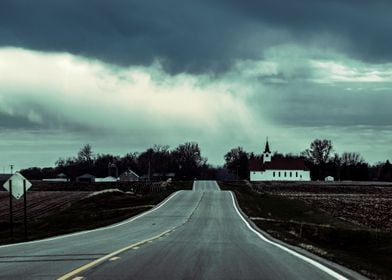 Road to a Country Church