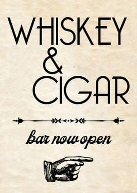 WHISKEY CIGAR Retro Bar