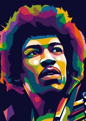 Jimi Hendrix Colorful Art