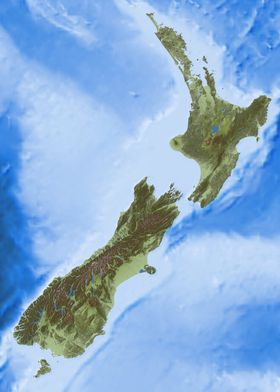 New Zealand Relief Map