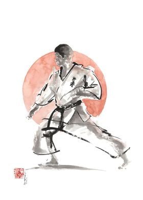 Karate Print Painting