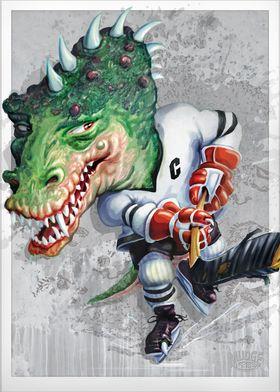 Slash Big Head Dino Hockey