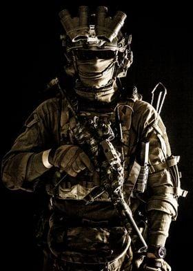 Army elite soldier