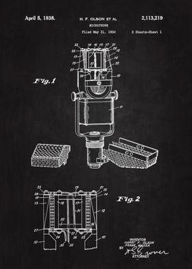 1938 Microphone Patent Art