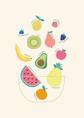 Fruits Kitchen Infographic