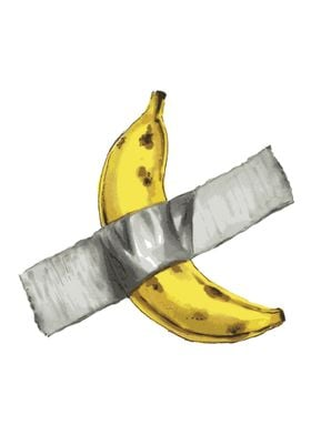 Banana taped to wall