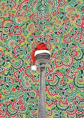 Santa Berlin TV Tower