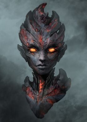 Magma elemental portrait