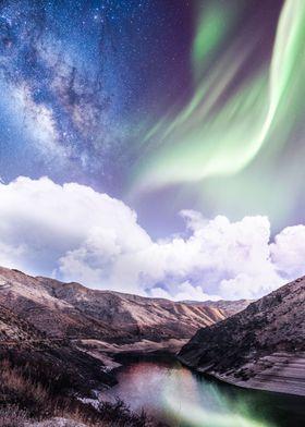 Aurora Over The Nature
