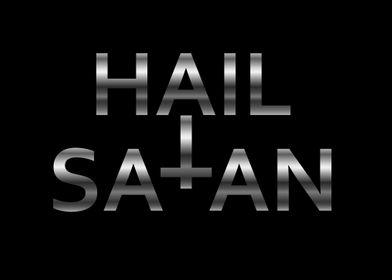Hail Satan Silver cross