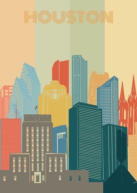 houston city retro