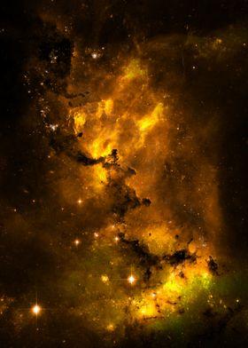 Calming Yellow Universe