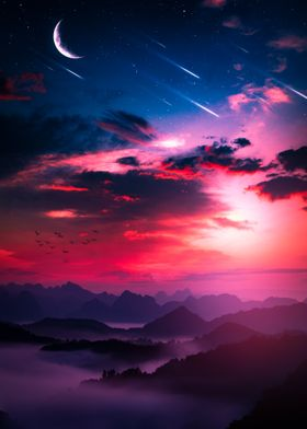 Falling stars artwork