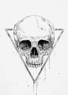Skull in a triangle II