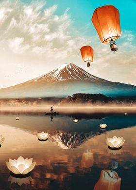 Sky Lanterns Flying