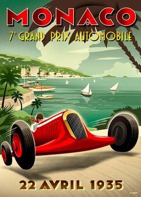 Monaco 7eme Grand Prix 22 Avril 1935