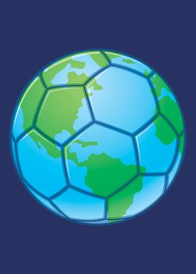 Planet Earth Soccer Ball