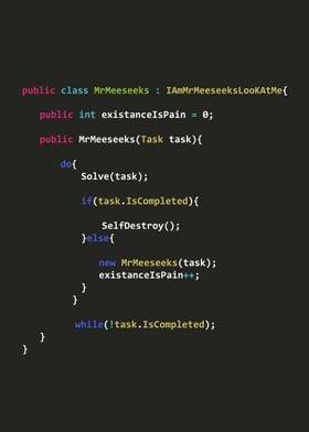 MrMeeseeks in Java code