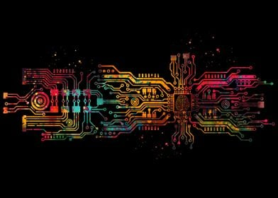 Circuit board with brain