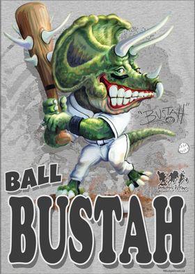 Ball Bustah Dino Baseball