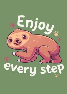 Cute Sloth Motivational