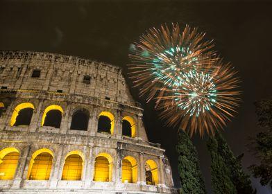 Fireworks over Rome
