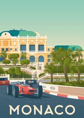 Monaco Travel Poster