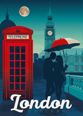 London UK Travel Poster