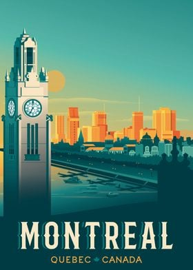 Montreal Travel Poster