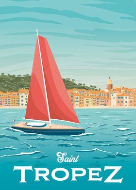 Saint Tropez Travel Poster