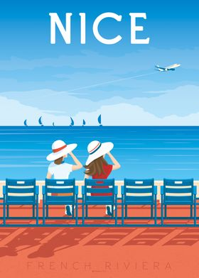 Nice France Travel Poster
