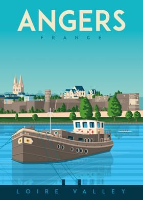 Angers Travel Poster