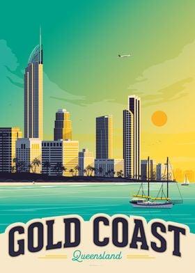 Gold Coast Travel Poster