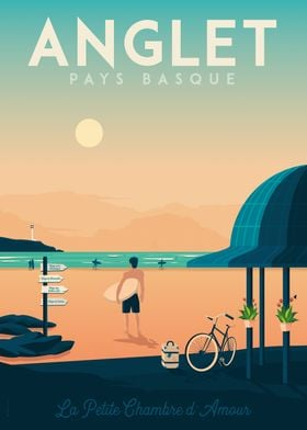 Anglet Travel Poster