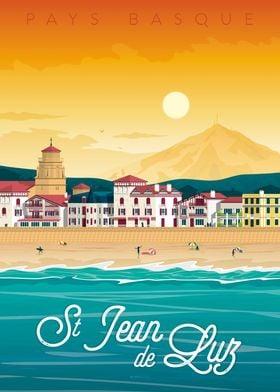 Saint Jean de Luz Poster