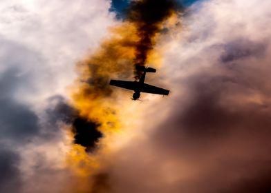 Yak52 aerobatics flying