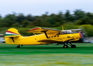 Antonov AN2 plane takeoff