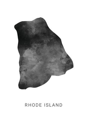 Rhode Island state map