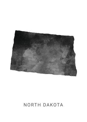 North Dakota state map