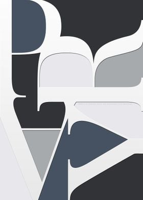 PRAY Blue Typography
