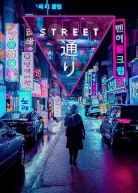 Japan Street Vaporwave