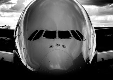 Airplane black and white