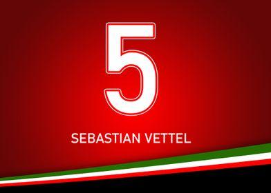 Vettel Minimal NumPlate
