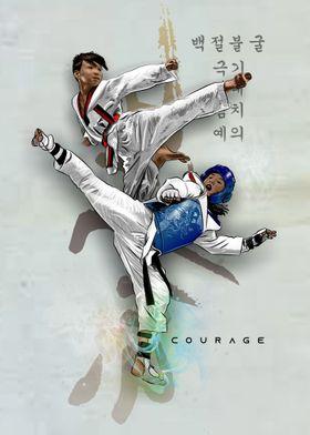 Taekwondo Courage