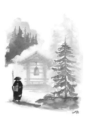 Zen Temple Poster