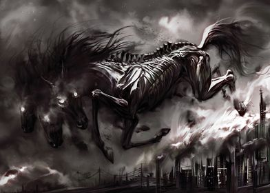 Horse from black star