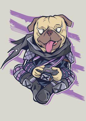 Pug Video Gaming Dog