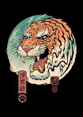 Tiger Ukiyoe