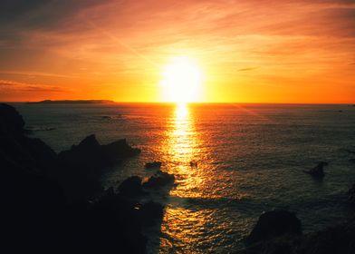 Sunset near Deadmans Bay